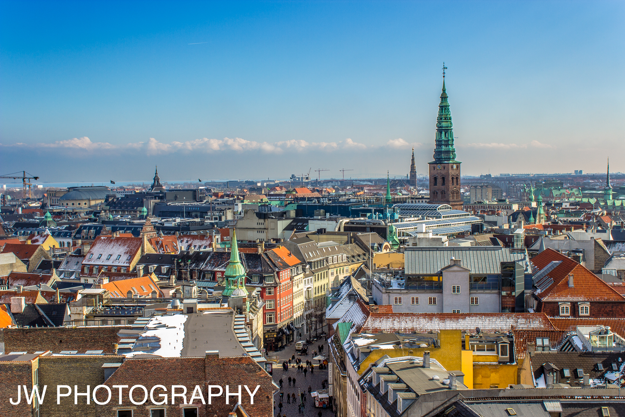 photo of Copenhagen from rooftop by Jeremiah Williams