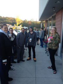 Pic of waiting in line for the new iPhone 5S