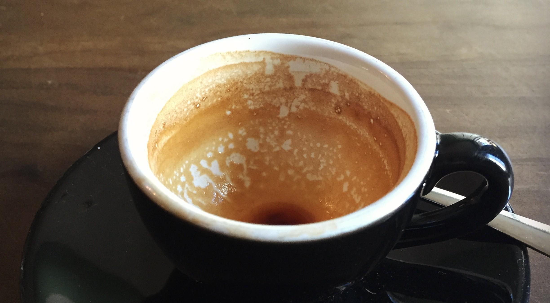 finished espresso