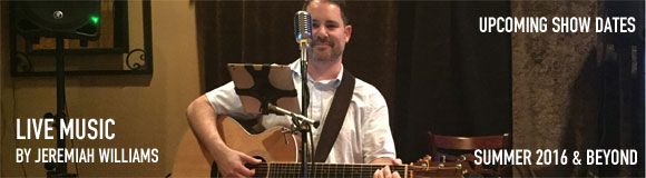 Jeremiah Williams Solo Acoustic Show